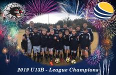 U13B – 2019 League Champions