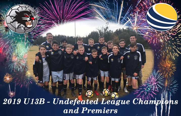 U13B's Undefeated League Champions and Premiers
